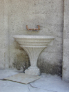 Precast drinking fountain